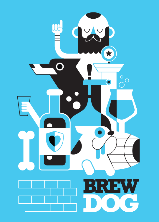 Brew Dog art print