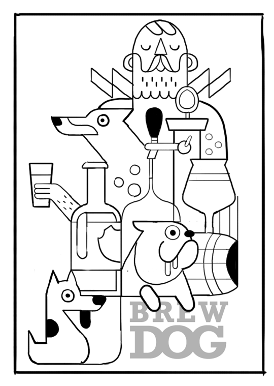 Brew Dog Sketch